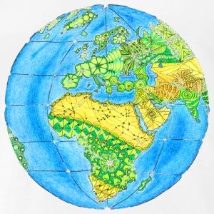 T-Shirt Zentangle Motiv Erde Umweltschutz