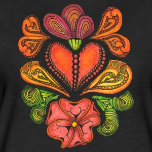 T-Shirt Zentangle Motiv Hearts'n'Flowers Herzen Blumen