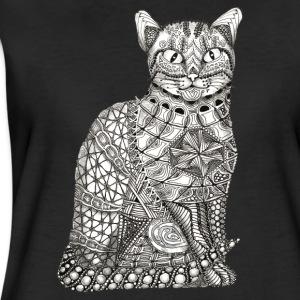T-Shirt Motiv Katze sitzend cat sitting