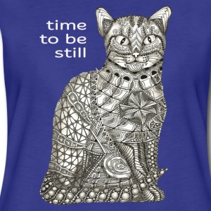T-Shirt Zentangle Motiv Katze sitzend cat sitting