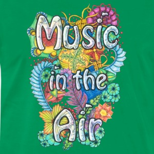 T-Shirt Zentangle Motiv Music in the Air Musik