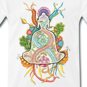 T-Shirt Zentangle Motiv Buddha bunt