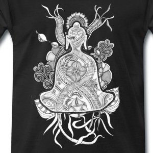 T-Shirt Zentangle Motiv Buddha grau