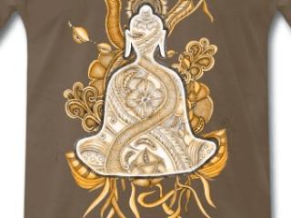 Zentangle T-Shirt Motiv Buddha