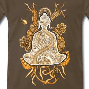 T-Shirt Zentangle Motiv Buddha sepia
