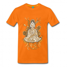 T-Shirt Zentangle Motiv Buddha