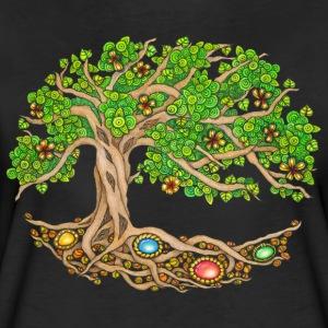 T-Shirt Zentangle Motiv Lebensbaum oval