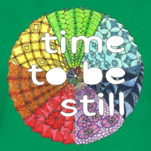 T-Shirt Zentangle Motiv Mandala time to be still ruhe