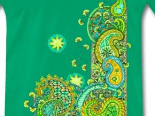 Zentangle T-Shirt Motiv Paisley