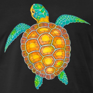 T-Shirt Zentangle Motiv Seeschildkröte Pop