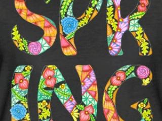 Zentangle T-Shirt Motiv Spring Frühling