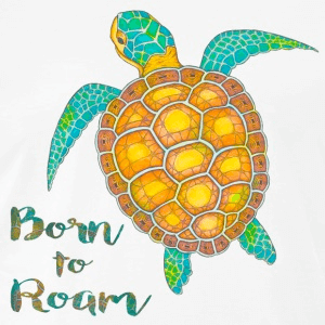 T-Shirt Zentangle Motiv Seeschildkröte